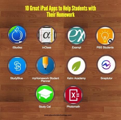 10 Great iPad Apps to Help Students with Their Homework | Valores y tecnología en la buena educación | Scoop.it