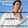 3 Month Loans No Faxing