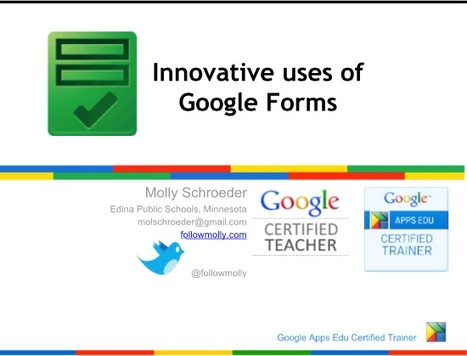 Innovative Ideas for Using Google Forms | All Elementary | Scoop.it