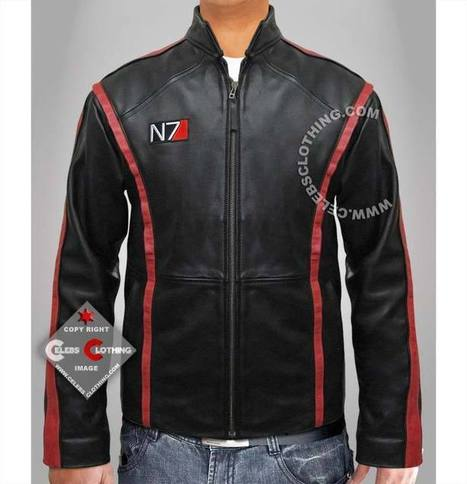 Mass Effect 3 Leather Jacket | Clothing Merchandiser | Scoop.it