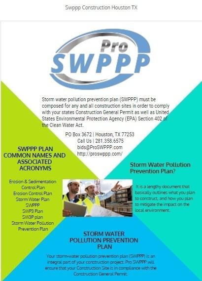 Swppp Construction Houston Tx By Pro Swppp I