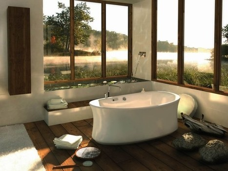 Modern Bathroom Designs with Nature View | 2012 Interior Design, Living Room Ideas, Home Design | Scoop.it