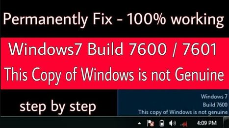 what does windows 7 build 7601 this copy of windows is not genuine mean
