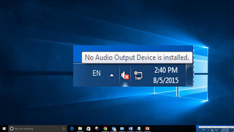 windows 10 no audio devices installed