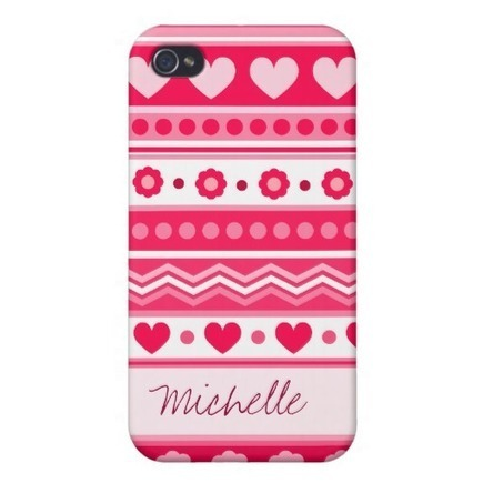 Cute Red Valentine's fabric Case For iPhone 4 from Zazzle.com | Cute floral iPhone Cases | Scoop.it