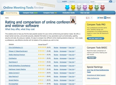 Compare and Evaluate The Best Web Conferencing and Collaboration Tools | Digitized media | Scoop.it