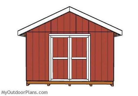 14x16 Gable Shed Doors | MyOutdoorPlans | Free Woodworking Plans and Projects, DIY Shed, Wooden Playhouse, Pergola, Bbq | Garden Plans | Scoop.it