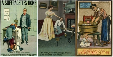 Absurd propaganda postcards warning men about the dangers of women's rights, early 1900s | We Teach Social Studies | Scoop.it
