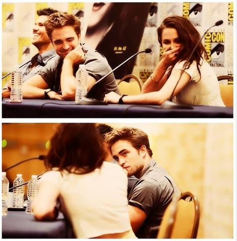 Robert Pattinson and Kristen Stewart at Comic Con 2012. | Robert Pattinson Daily News, Photo, Video & Fan Art | Scoop.it