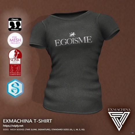 45591b78fa92 ExMachina T-Shirt For Men Teleport Hub Group Gift by Egoisme