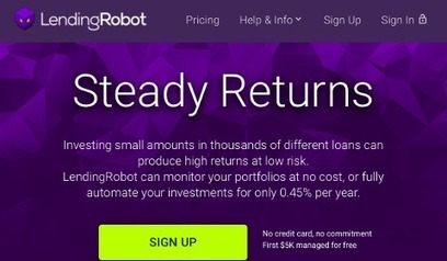 LendingRobot, robo-advisor du crédit P2P | patrimoine bourgogne | Scoop.it