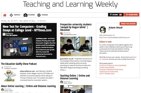 April 8, 2013: Teaching and Learning Weekly is out | Studying Teaching and Learning | Scoop.it