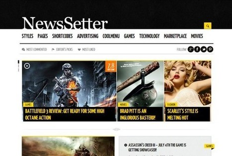 27 WordPress News and Blog Themes   Vandelay Design Blog   Template & Webdesign   Scoop.it