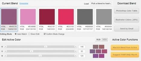 3 services web pour bien choisir les couleurs de votre blog | Bloguer | Scoop.it
