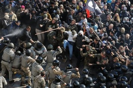 Police clash with protestors in Kiev on UPA anniversary | News From Stirring Trouble Internationally | Scoop.it