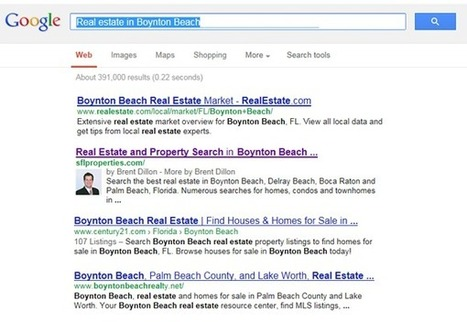 Make sure your smiling mug is coming up in the SERPs | Search Engine Marketing For Real Estate | Scoop.it