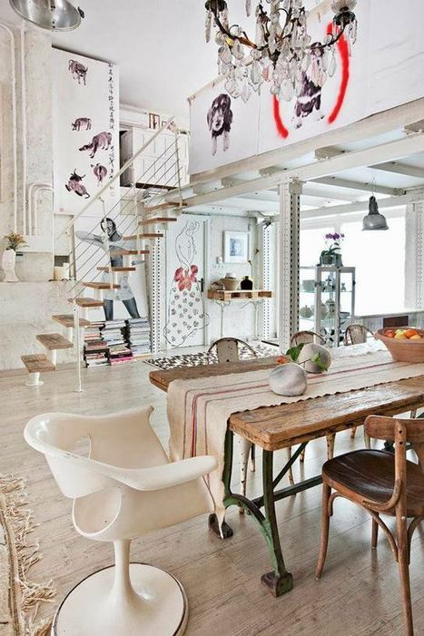 Home Tour: A Magical Bohemian Style Loft in Madrid - decor8 | Raw and Real Interior Design | Scoop.it