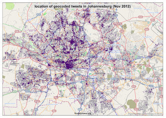 The Urban Geographies of Tweets in Africa | OpenSource Geo & Geoweb News | Scoop.it