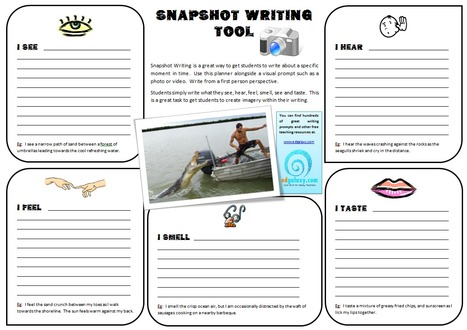 The Snapshot Writing Tool: Help Students Create Visual Imagery Within Their Writing | 6-Traits Resources | Scoop.it
