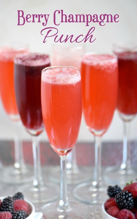Berry Champagne Punch - Mom On Timeout | Passion for Cooking | Scoop.it