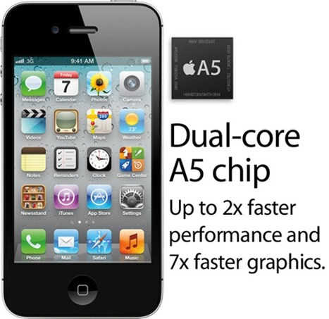 iPhone 4S CPU Clocked At 800MHz Is 73% Faster Than iPhone 4, Twice As Fast As Galaxy S II, And All Other Android Phones | Redmond Pie | iPad - iPhone News | Scoop.it