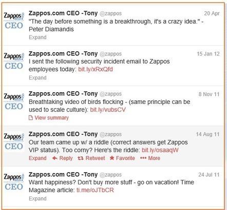 Zappos Social Innovation | Great Writing Meets Social Media | Scoop.it