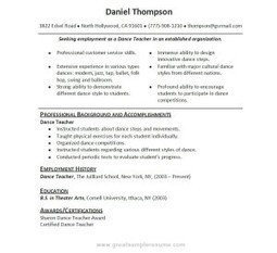 Dance Resume Format from img.scoop.it