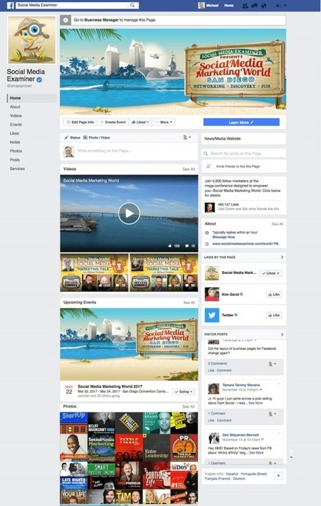 Facebook Changes Page Layouts: This Week in Social Media : Social Media Examiner | Digital Content Marketing | Scoop.it