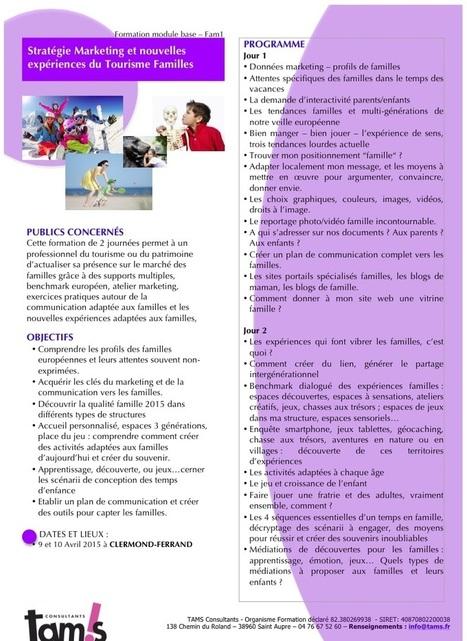 Auvergne : Formation Unique en 2015 aux innovations du Tourisme des Familles | Tourisme en Famille - Pistes à suivre | Scoop.it