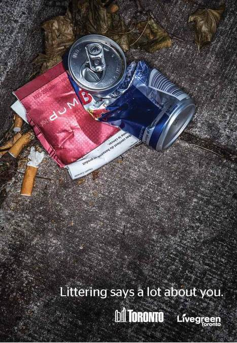 """Toronto's Clever Litter-Shaming Ads Could Just Work (""""people need to be reminded often"""") 