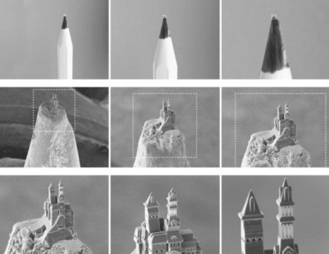 Multiphoton Lithography: Tiny Castle 3-D Printed on the Tip of a Pencil | Additive Manufacturing News | Scoop.it