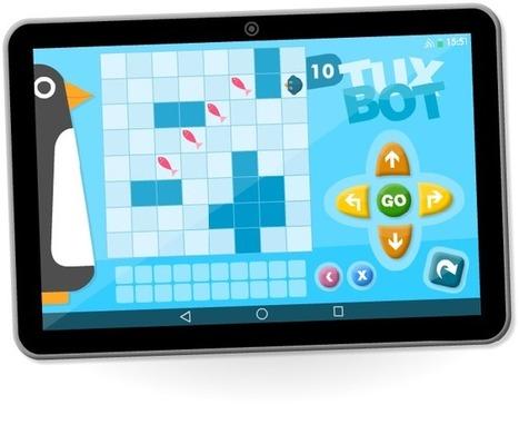Apprendre à programmer à l'école. TuxBot une application Androïd permettant de programmer les déplacements d'un automate virtuel. | Education & Numérique | Scoop.it