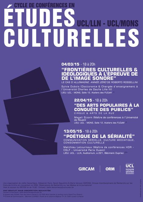 Cycle de conférences en études culturelles | UCL Actus Recherche | Scoop.it
