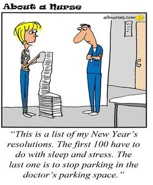New Year Resolution Cartoon Nursing Education
