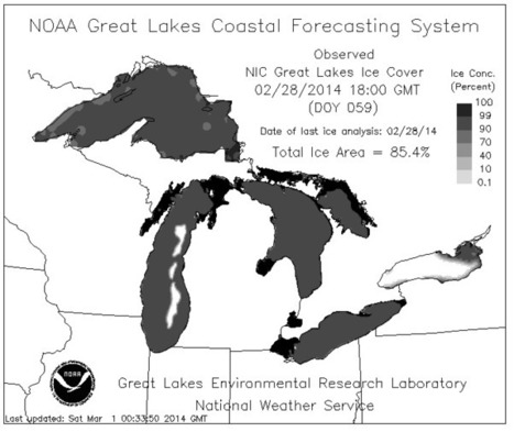 Great Lakes Approaching 100% Ice Cover - For The First Time On Record | Technology and Internet | Scoop.it