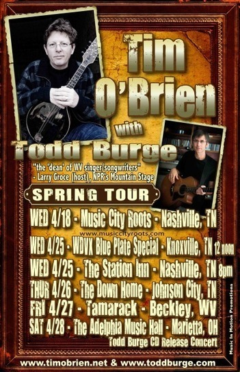 Tim O'Brien and Todd Burge touring this spring | acoustic strings | Scoop.it