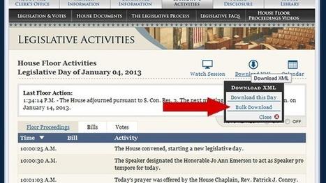 Open data of U.S. House legislation now available in bulk format | Open Knowledge | Scoop.it