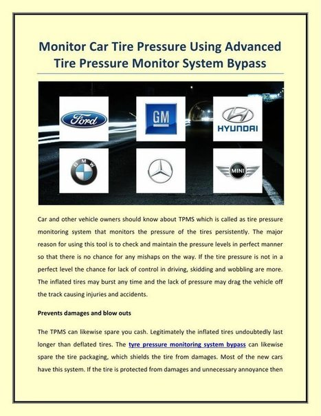 JEEP (US) Tire Pressure Sensor Bypass TPMS Cont