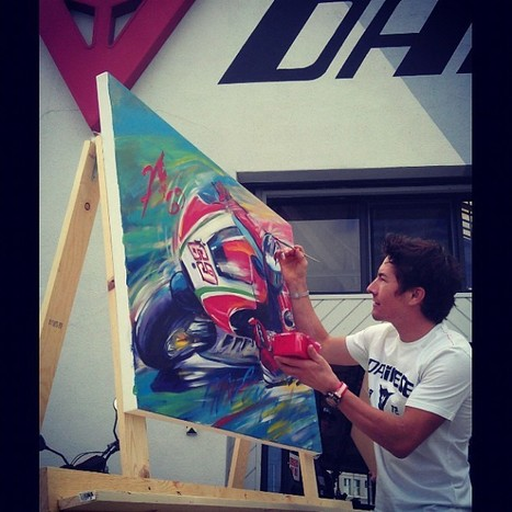 Nicky Hayden's photo | Instagram | Just a lil portrait I scratched out in art class today. ;) | Ductalk Ducati News | Scoop.it