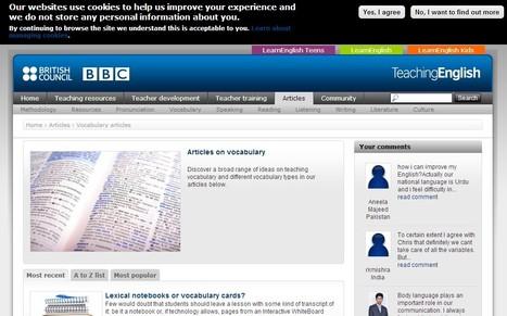 Vocabulary articles | TeachingEnglish | British Council | BBC | language and technology | Scoop.it