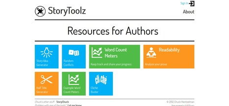 StoryToolz : Resources for Authors   eTools   Scoop.it