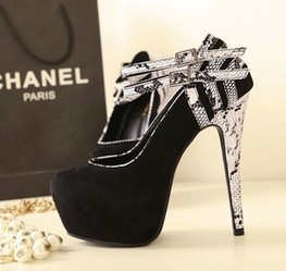 Wholesale Women's pumps with snake & platform sexy shoes XD-BLE980-18 black - Lovely Fashion | fashion chic styles(peep toe,pumps) | Scoop.it