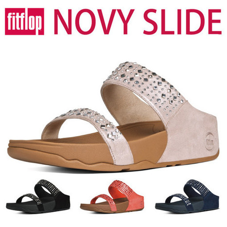a7d56f14a8b163 Get Discount Fitflop Novy Slide Women s Sandals with Suede