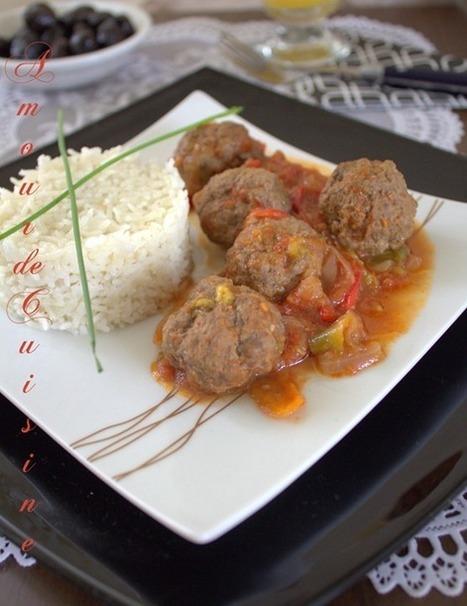 boulettes de viande hachee en sauce, au four | Cuisine Algerienne, cuisine du monde | Scoop.it