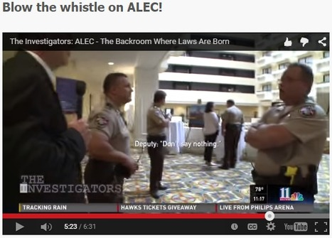 Blow the whistle on ALEC! | DidYouCheckFirst | Scoop.it