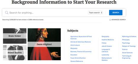 Credo Reference | Informed Teacher Librarianship | Scoop.it