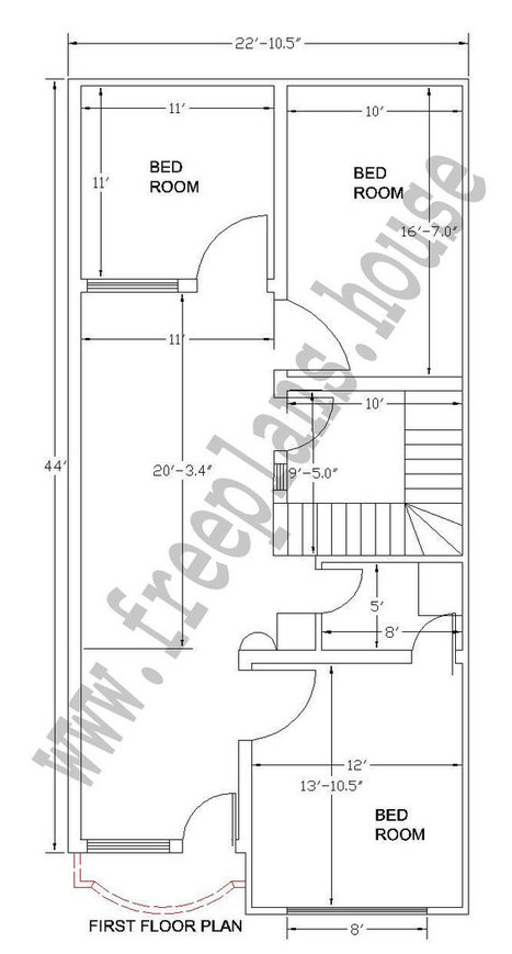 22×44 Feet/ 89 Square Meter House Plan - ... on free marriage, free toys, free house budget, extreme makeover home plans, free blueprints, free house ideas, building plans, free lifestyle, free house values, free house agreements, free land, free business, free printable notebook planner, free home, floor plans, free clip art black and white house, free house models, modern home design plans, free house drawing, free modern houses,