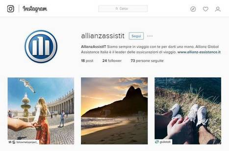 Allianz Global Assistance sbarca su Instagram via influencer | Mark Up | Social Media Italy | Scoop.it