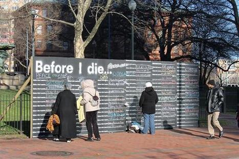 Public art invites passers-by to share life goals; answers range from profound to profane | Street art news | Scoop.it