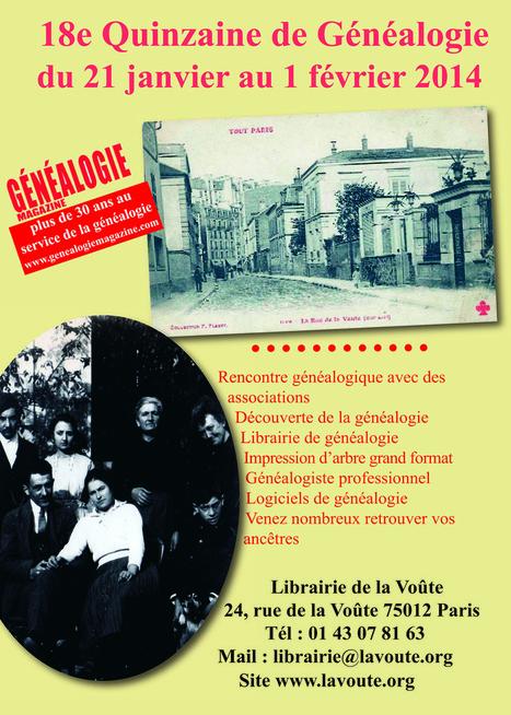 18e édition de la Quinzaine de Généalogie - MyHeritage.fr - Blog francophone | Rhit Genealogie | Scoop.it